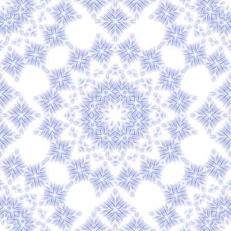 snippet: Vector abstract seamless  pattern with circle elements , stylized  stars, snowflakes and lace on the white background. Perfect  cards for any other kind of design, birthday and other holiday Illustration