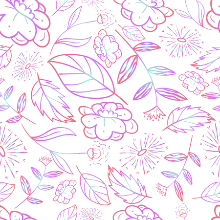 green forest seamless flower nature eco autumn pattern