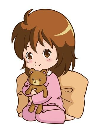 girl_pajamas Illustration