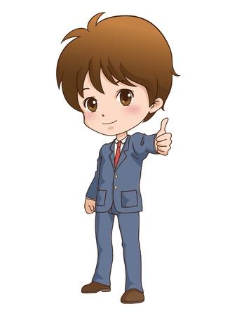 boy_good-  イラスト・ベクター素材