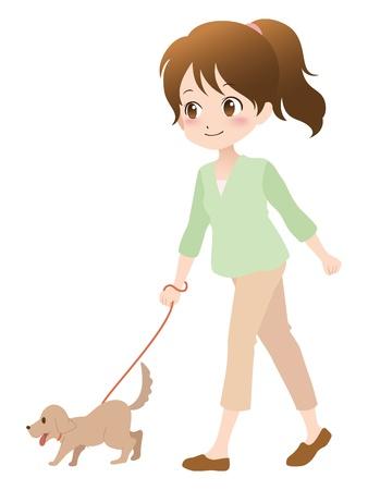 girl_dog Illustration