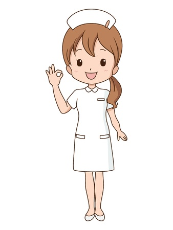 hospital cartoon: woman_guide