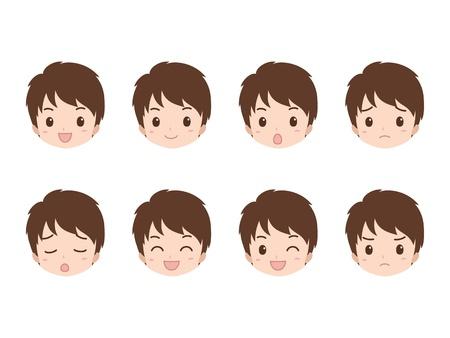 man_face  イラスト・ベクター素材