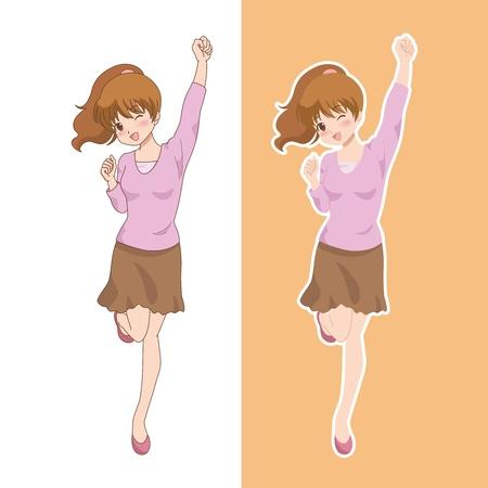 소녀 _smile 일러스트
