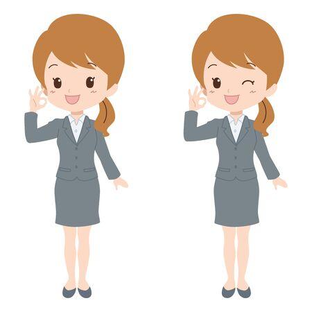 file clerk: woman good Illustration