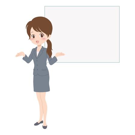 woman guide Ilustração