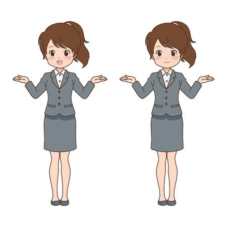 file clerk: girl happy Illustration
