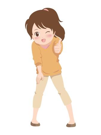 conquering adversity: chica buena Vectores