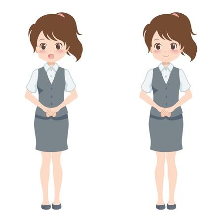 file clerk: woman smile Illustration