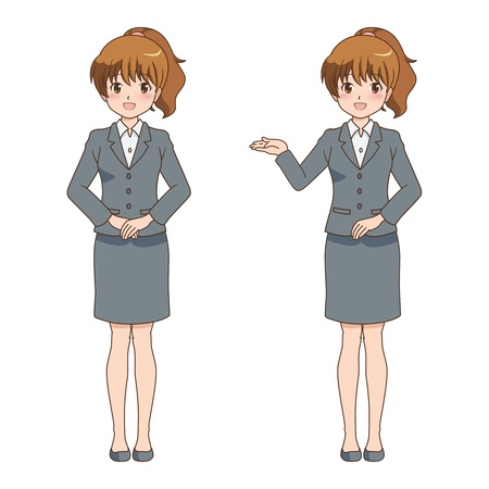 file clerk: woman pose Illustration