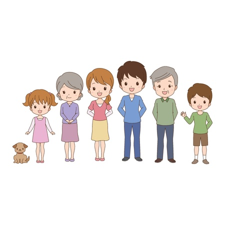 expressing positivity: family Illustration