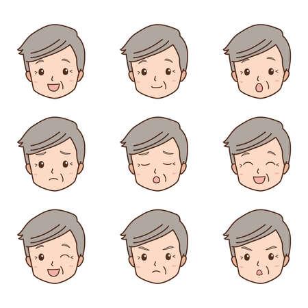 sullen: grandfather_face  Illustration