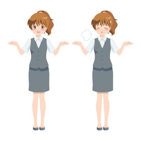 file clerk: woman_business  Illustration