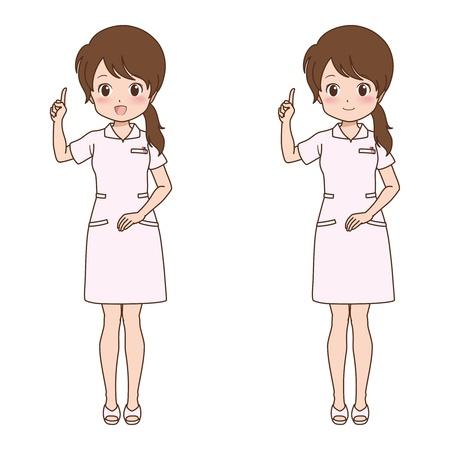 home care nurse: girl_point