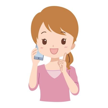 girl at phone: girl_phone