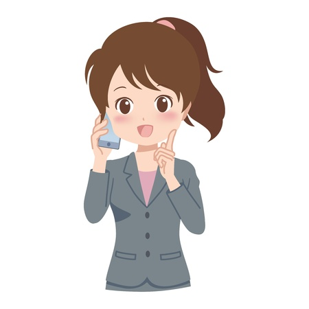 woman_phone  Vector