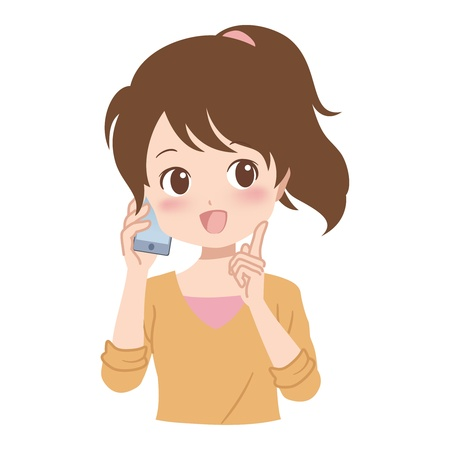 girl_phone  Vector