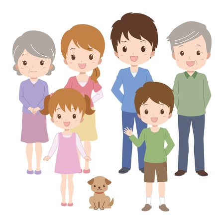 two generation family: family  Illustration