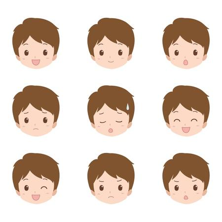 boy_face  イラスト・ベクター素材