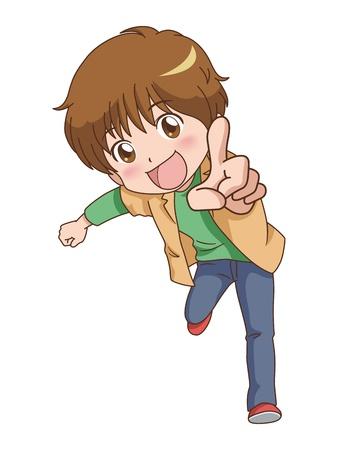 boy pose  Ilustração