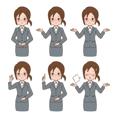 girl_variation Stock Illustratie