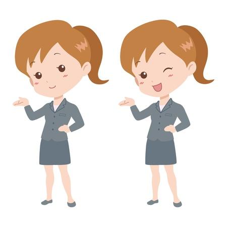 file clerk: woman_guide