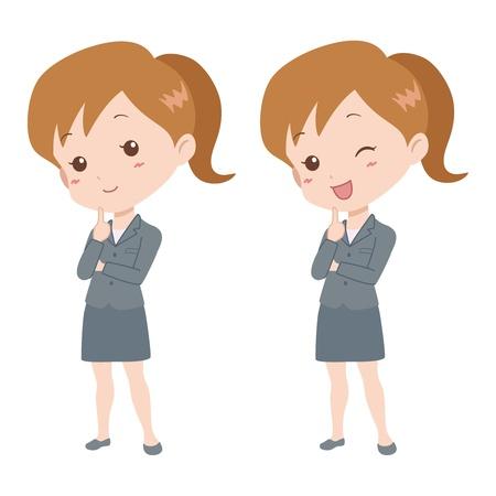 file clerk: woman_think  Illustration