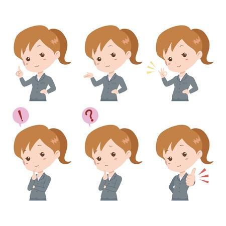 file clerk: woman_pose  Illustration