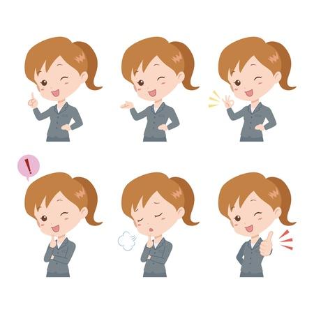 expressing positivity: woman_pose  Illustration