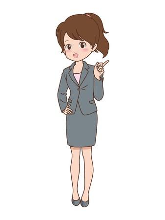 file clerk: woman Illustration