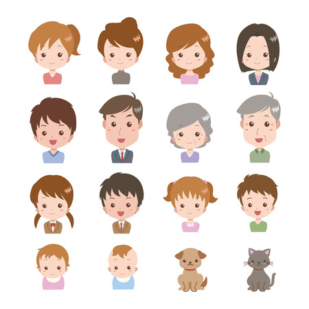 people_face  Stock Vector - 22659207