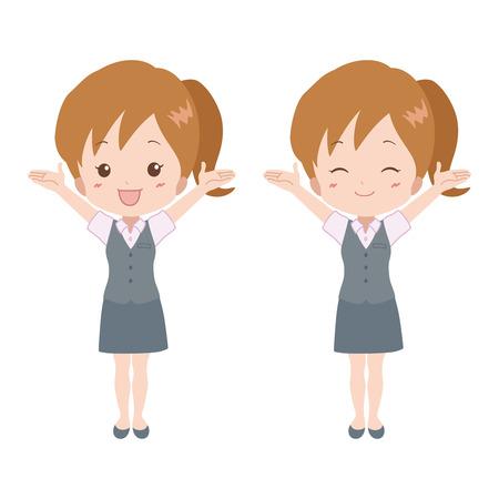 file clerk: woman_happy  Illustration