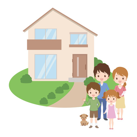 family moving house: family_home  Illustration
