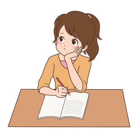 girl_study  Ilustrace