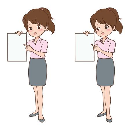file clerk: girl_guide  Illustration