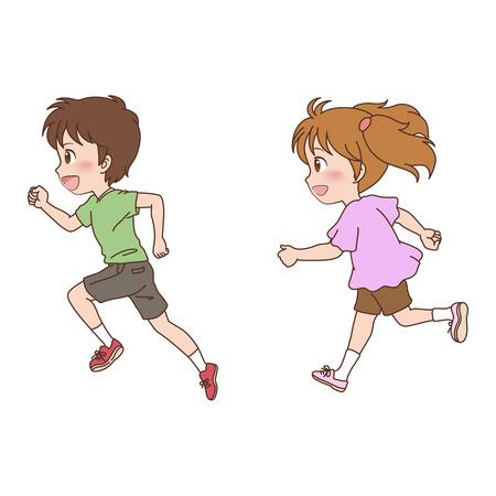 Children_run 스톡 콘텐츠 - 23951234