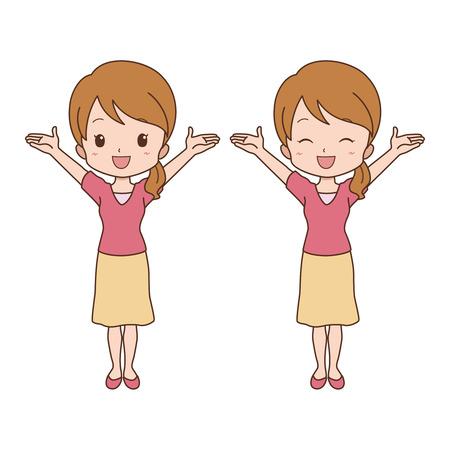 indian student: woman happy Illustration