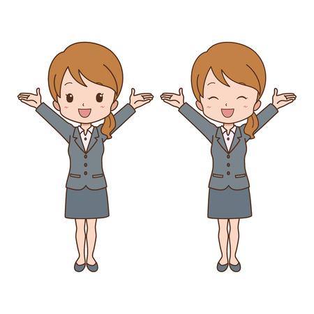 file clerk: woman_happy