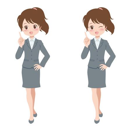 woman_point Stock Illustratie