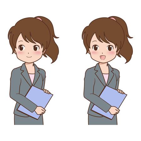 woman_smile  イラスト・ベクター素材