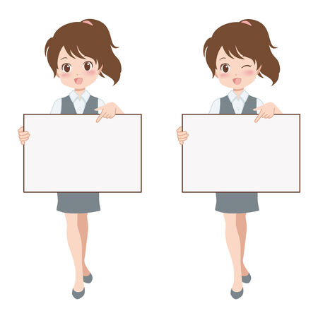 guides: women with blank guides Illustration
