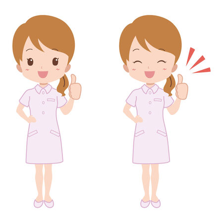 healthcare worker: woman showing good sign