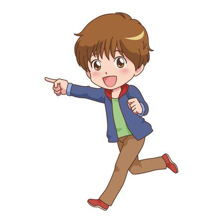boy guide  Vector