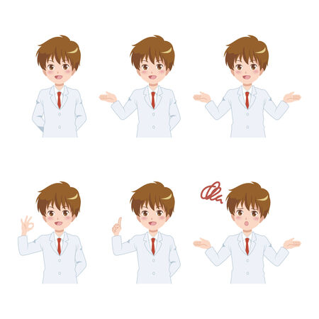 men poses set Vector