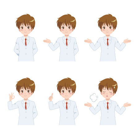 man poses set Vector