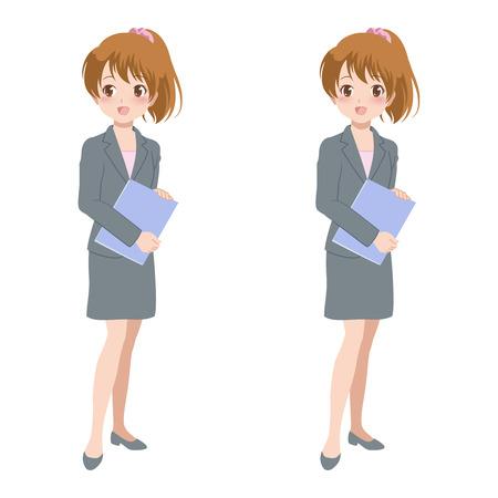 file clerk: woman_smile