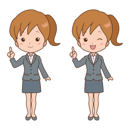 indian student: woman_point  Illustration