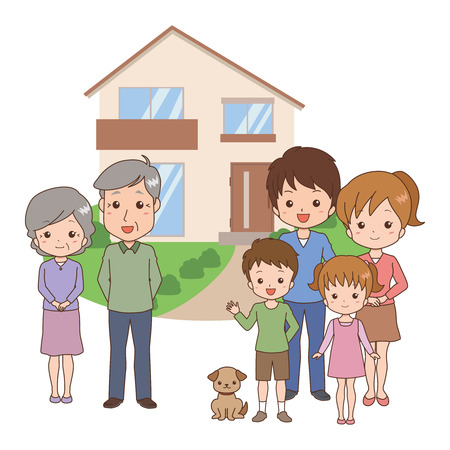two parent family: family Illustration