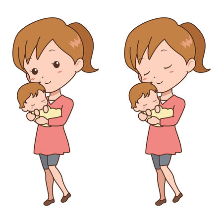 mother_baby  Vector