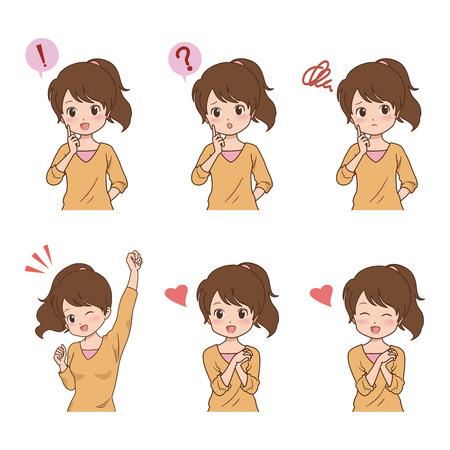 indian student: girl_pose  Illustration